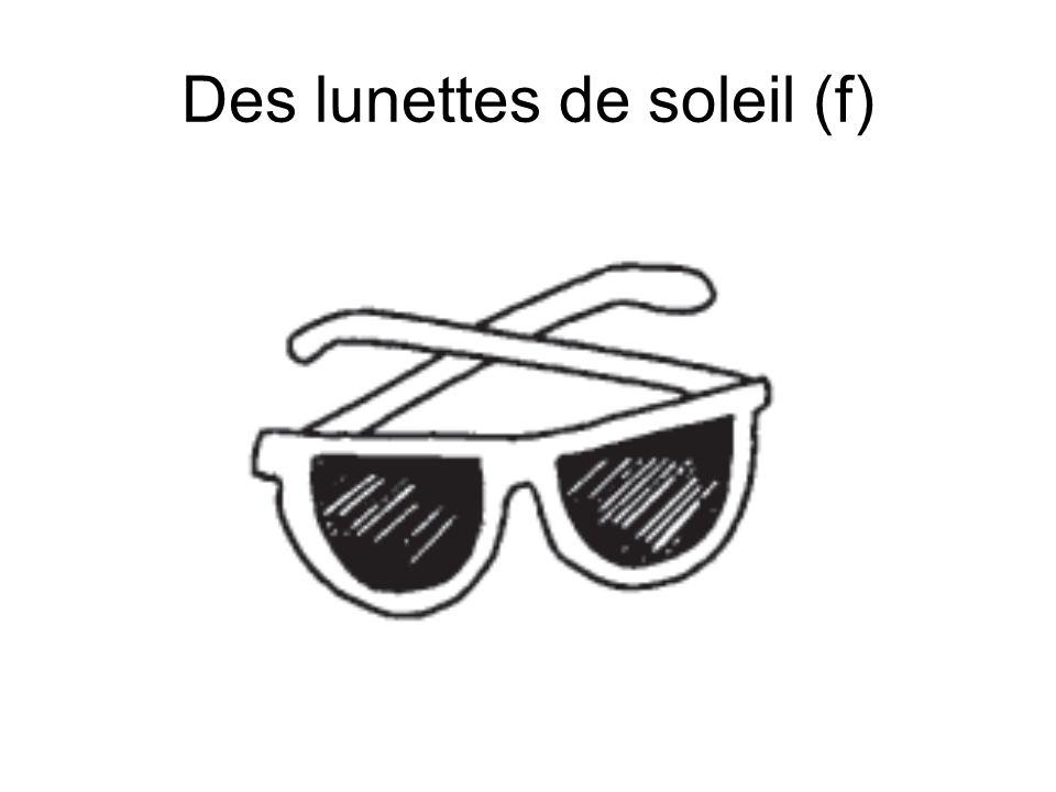 Des lunettes de soleil (f)
