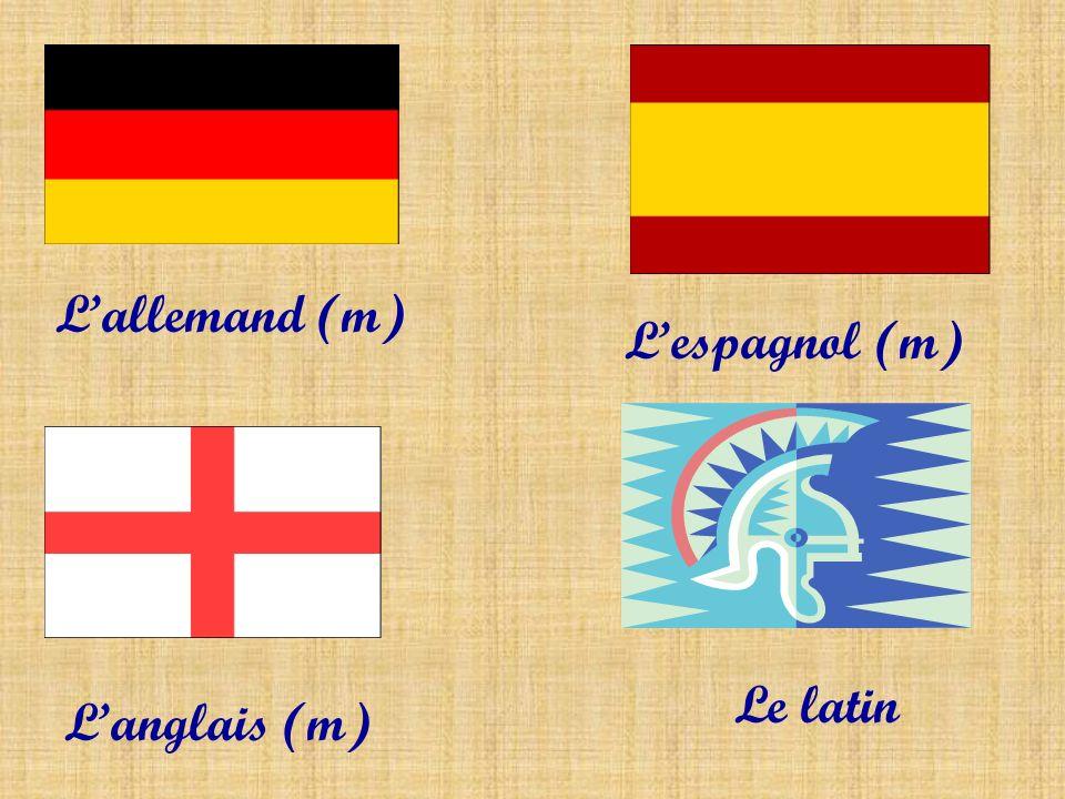 Lallemand (m) Lespagnol (m) Langlais (m) Le latin