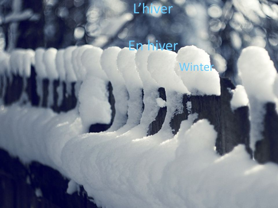 Lhiver En hiver Winter