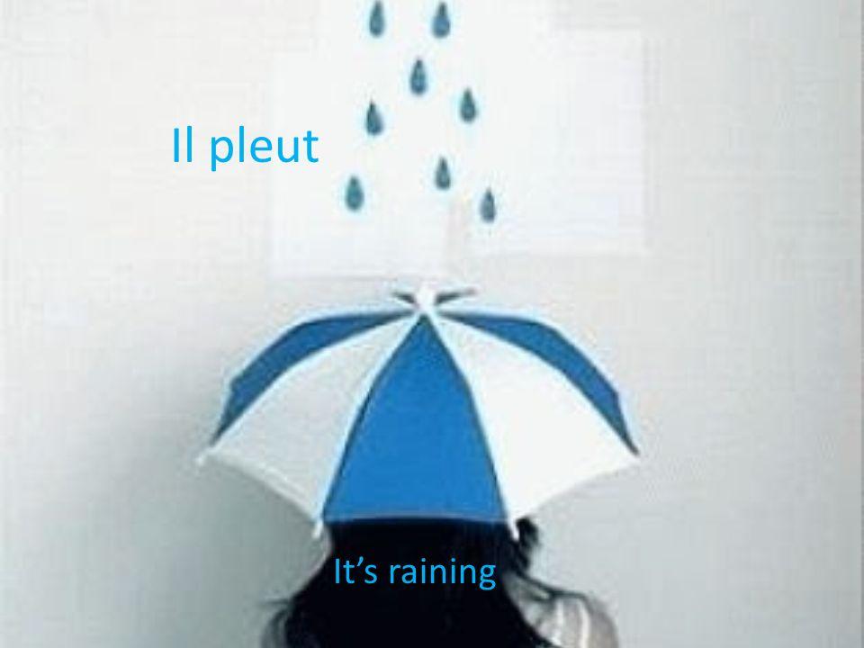 Il pleut Its raining