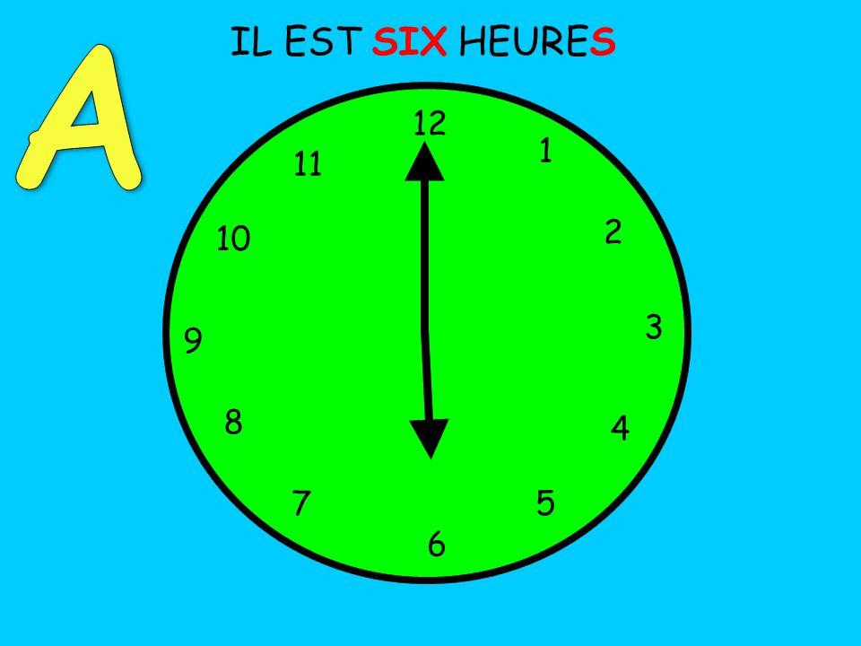 IL EST SIX HEURES 12 1 5 4 9 3 6 10 11 2 7 8