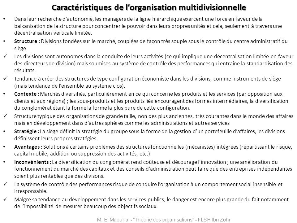 Organisation innovatrice Environnement complexe et dynamique Adhocratie opérationnelle Adhocratie administrative M.