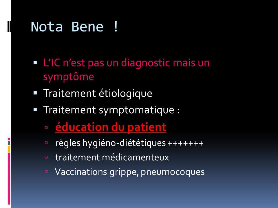 Nota Bene ! LIC nest pas un diagnostic mais un symptôme Traitement étiologique Traitement symptomatique : éducation du patient règles hygiéno-diététiq