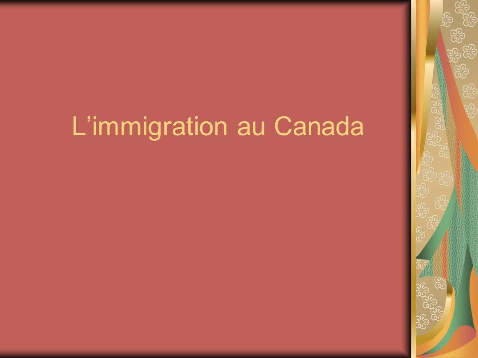 Limmigration au Canada