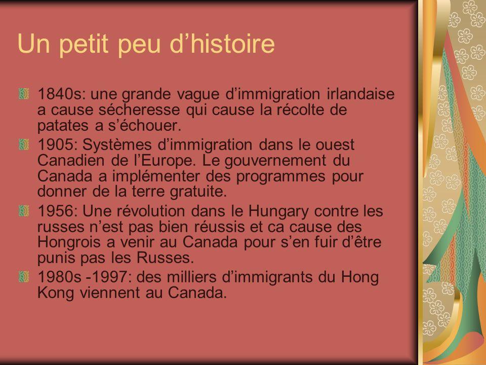 Pourquoi est-ce que des personnes immigrent.Pourquoi partir du Canada.