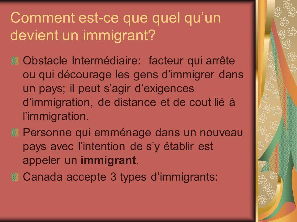 Comment est-ce que quel quun devient un immigrant.
