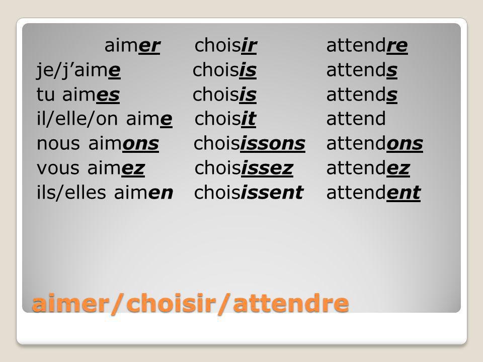 To make sentences negative put ne…pas around the verb Il attend le bus. Il nattend pas le bus.