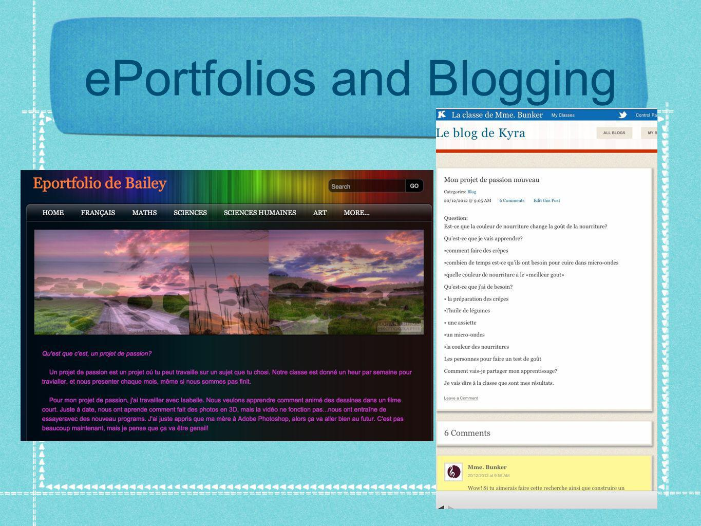 ePortfolios and Blogging