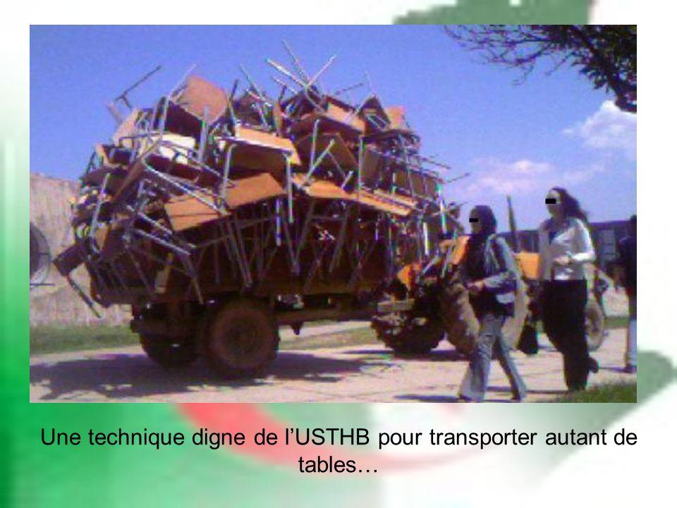 Une technique digne de lUSTHB pour transporter autant de tables…
