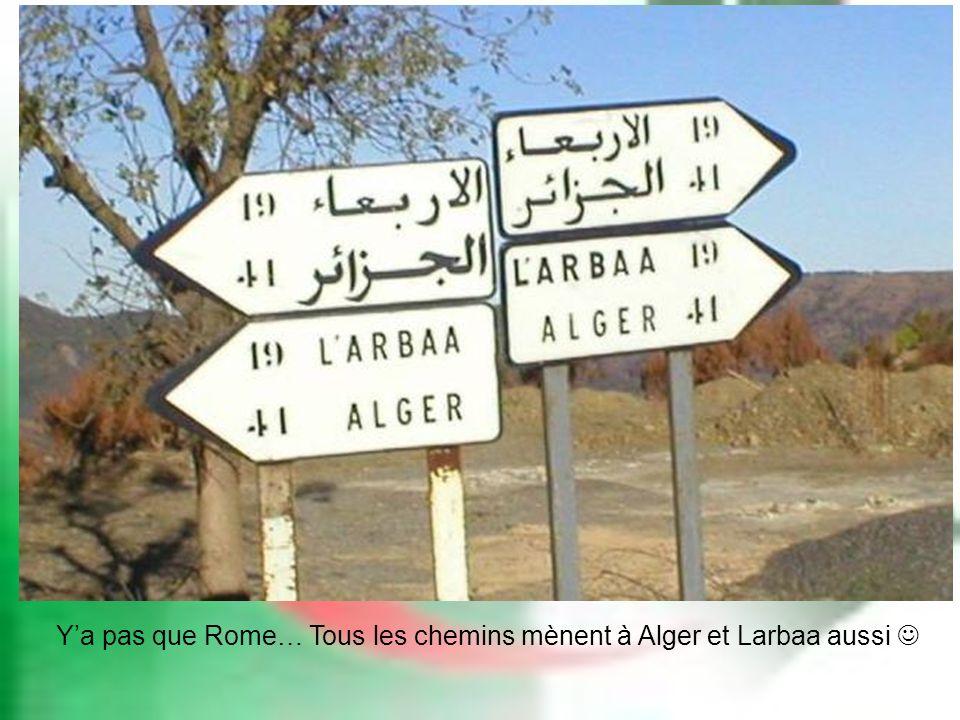 Ya pas que Rome… Tous les chemins mènent à Alger et Larbaa aussi