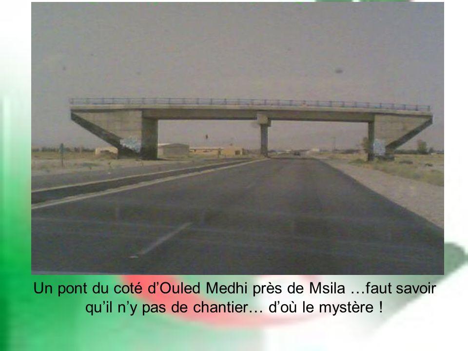 Un pont du coté dOuled Medhi près de Msila …faut savoir quil ny pas de chantier… doù le mystère !