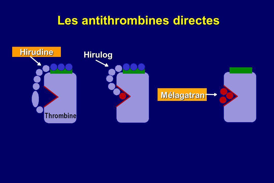 Hirulog Thrombine Mélagatran Hirudine Les antithrombines directes