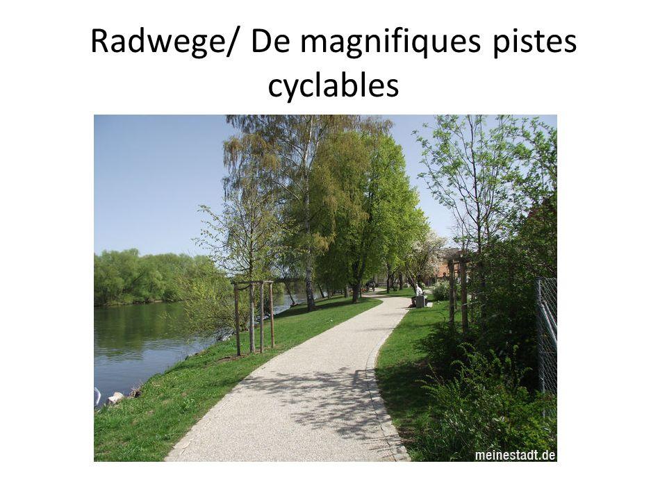 Radwege/ De magnifiques pistes cyclables