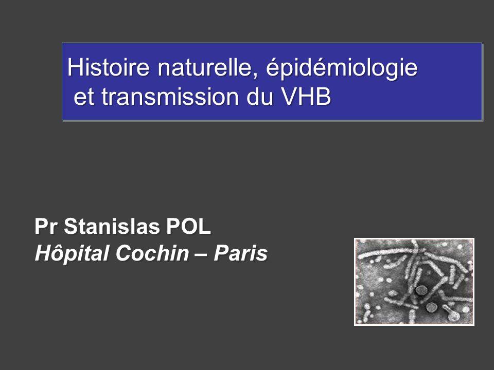 Pr Stanislas POL Hôpital Cochin – Paris Pr Stanislas POL Hôpital Cochin – Paris Histoire naturelle, épidémiologie et transmission du VHB