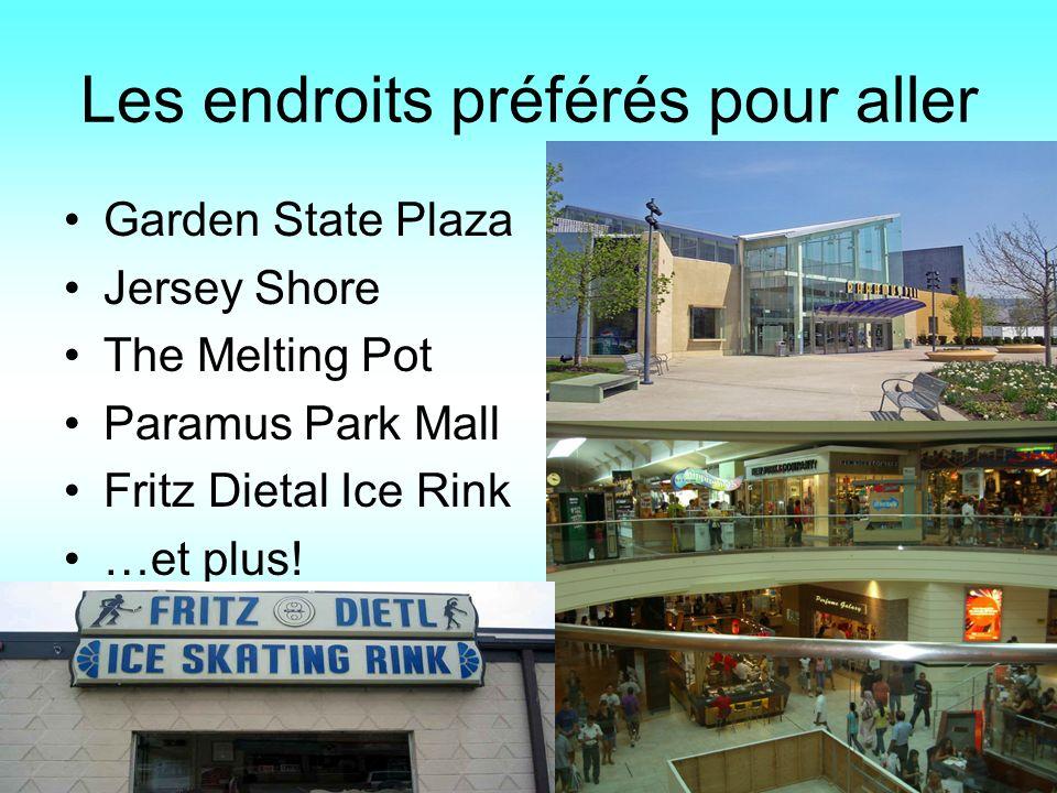 Les endroits préférés pour aller Garden State Plaza Jersey Shore The Melting Pot Paramus Park Mall Fritz Dietal Ice Rink …et plus!