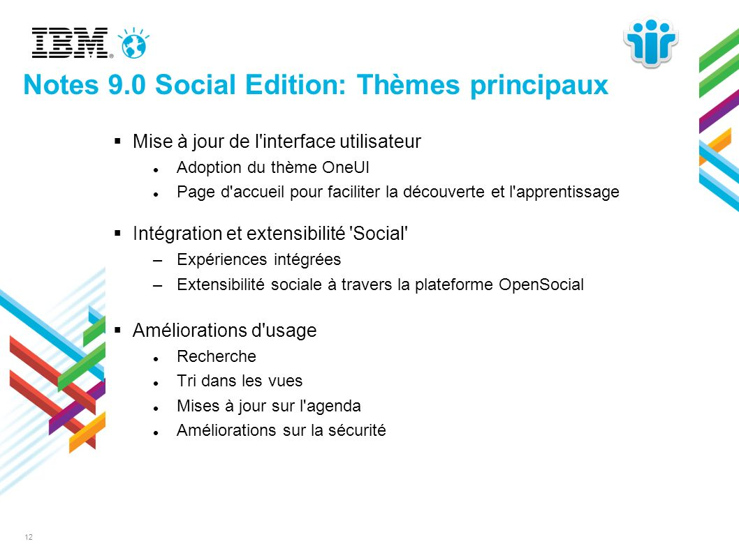 12 Notes 9.0 Social Edition: Thèmes principaux Mise à jour de l'interface utilisateur Adoption du thème OneUI Page d'accueil pour faciliter la découve
