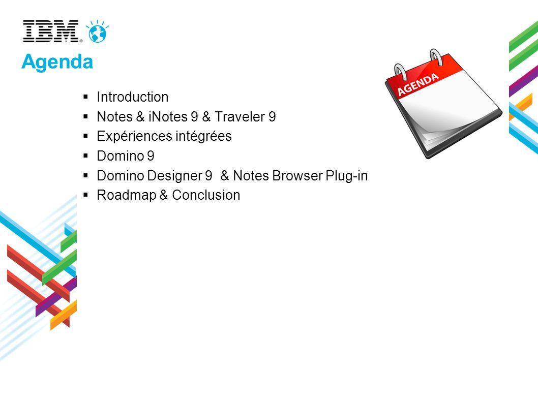 Browser Plug-inClient Basic Client Standard Browser integration Component Core NSF / DB / replication Lotusscript Engine Notes Core Components (DB, Views, editor, Toolbars etc) Notes Client desktop + UI (bookmarks etc) Basic Sametime Core NSF / DB / replication Lotusscript Engine Notes Core Components (DB, Views, editor, Toolbars etc) Notes Standard Client UI (bookmarks, etc) Sametime Rich Client Core NSF / DB / replication Lotusscript Engine Notes Core Components (DB, Views, editor, Toolbars etc) JVM/Java Agents viewers Local Help content Expeditor Framework Java Plugin Model Composite Applications Widgets Sideshelf Support Activities Integration Feed Reader Livetext JVM/Java Agents viewers Local Help content JVM/Java Agents viewers MAX MIN Ce qui est inclus dans les clients