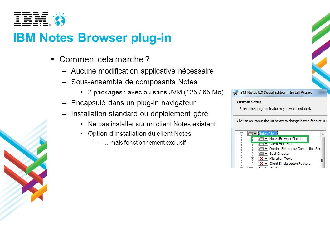 IBM Notes Browser plug-in Comment cela marche .