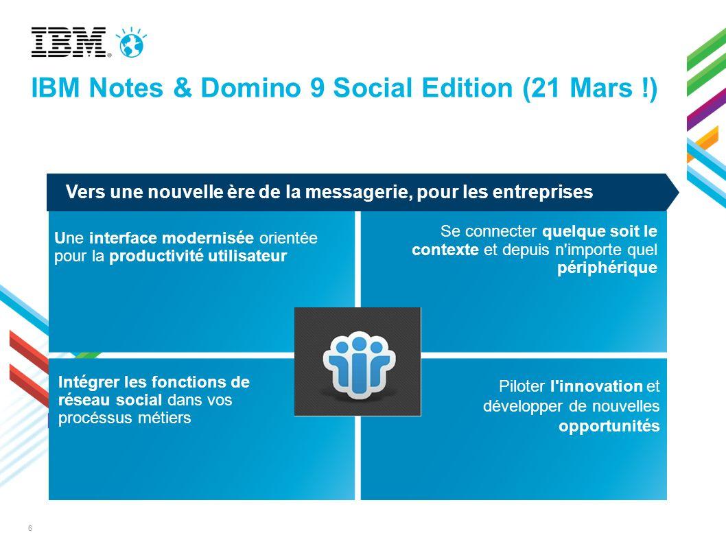 Agenda Introduction Notes & iNotes 9 & Traveler 9 Expériences intégrées Domino 9 Domino Designer 9 & Notes Browser Plug-in Roadmap & Conclusion
