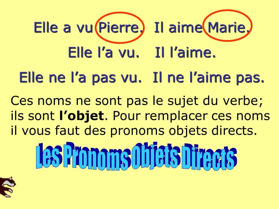 Je Tu Il Elle Nous Vous Ils Elles On me te le la nous vous les Se Les pronoms objets directs se placent devant le verbe!