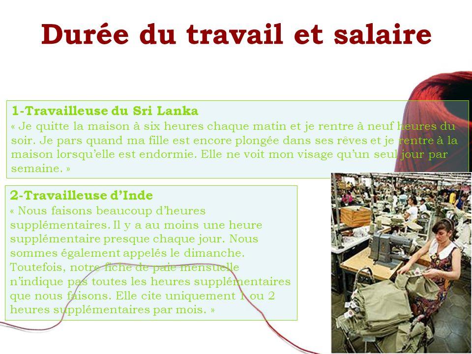 1-Travailleuse du Sri Lanka « Je quitte la maison à six heures chaque matin et je rentre à neuf heures du soir.
