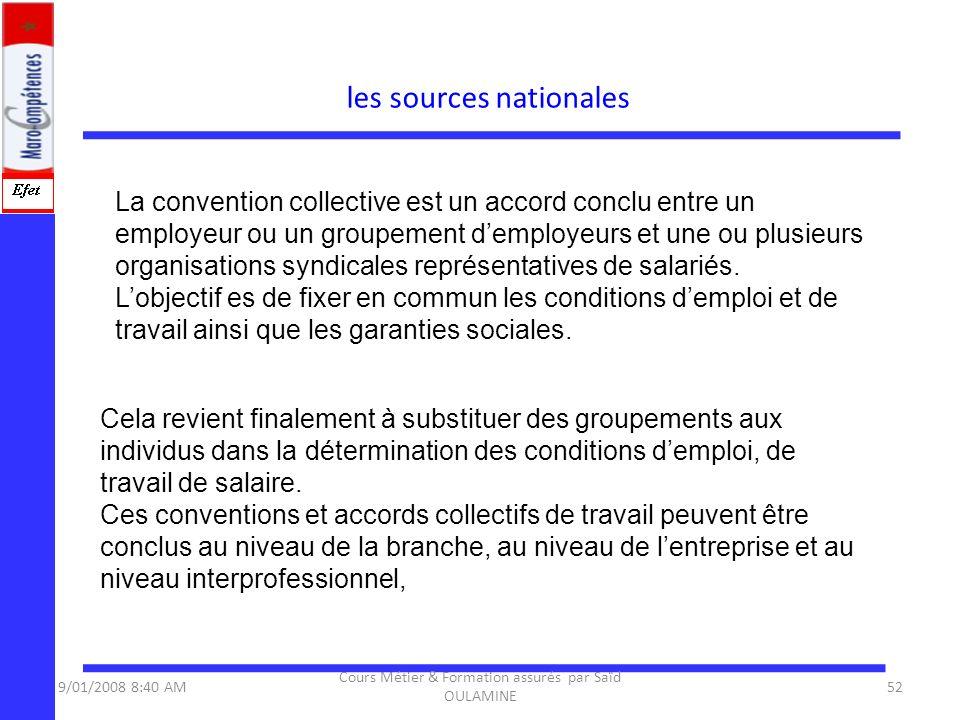 La convention collective est un accord conclu entre un employeur ou un groupement demployeurs et une ou plusieurs organisations syndicales représentat