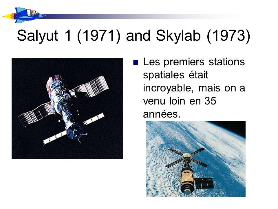 Salyut 1 (1971) and Skylab (1973) Les premiers stations spatiales était incroyable, mais on a venu loin en 35 années.