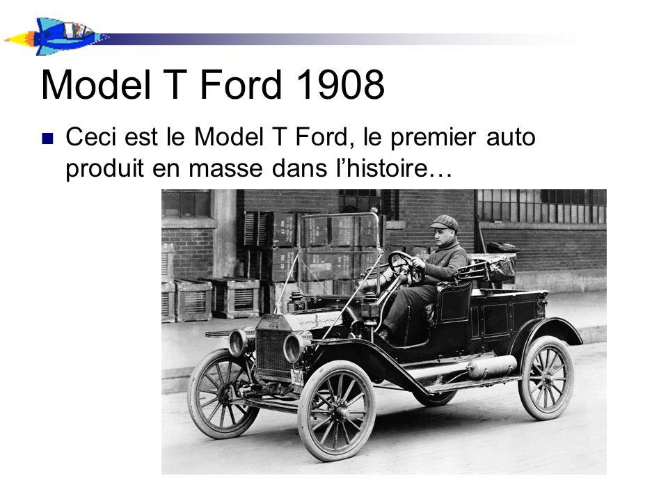 Model T Ford 1908 Ceci est le Model T Ford, le premier auto produit en masse dans lhistoire…