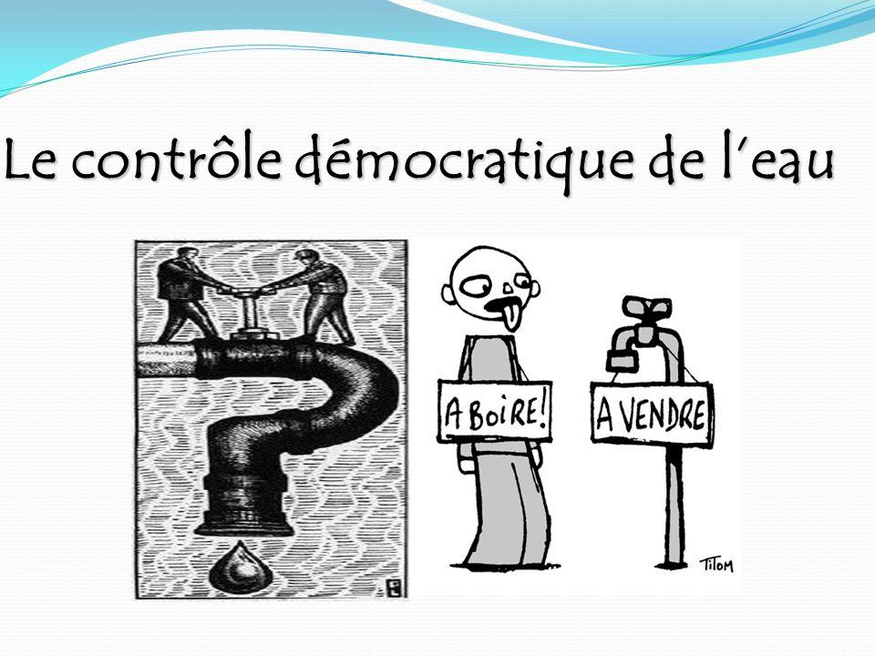 Le contrôle démocratique de leau