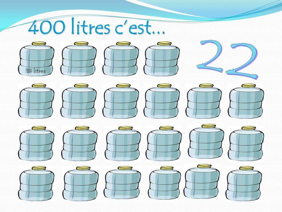 400 litres cest... 18 litres