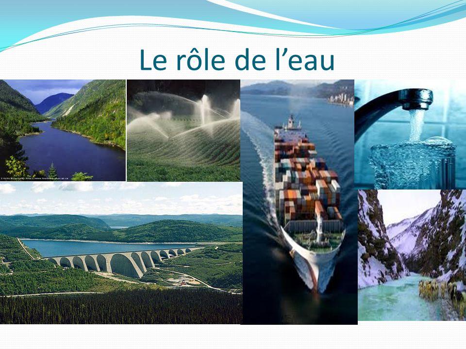 Leau au Québec 10 % du territoire du Québec est recouvert deau douce.
