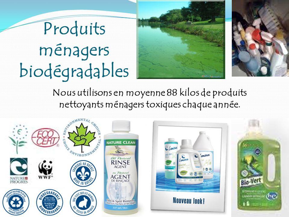 Nous utilisons en moyenne 88 kilos de produits nettoyants ménagers toxiques chaque année. Produits ménagers biodégradables