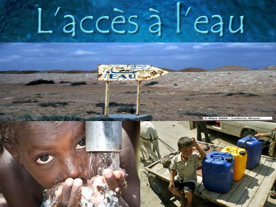 Combien de personnes nont pas accès à leau potable dans le monde.