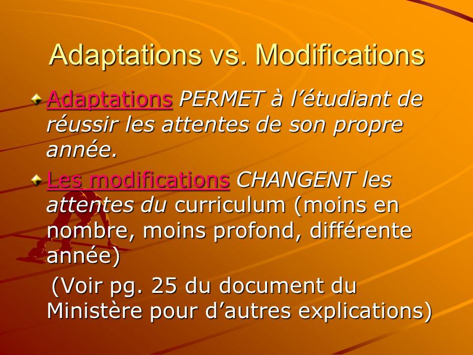 Adaptations vs.