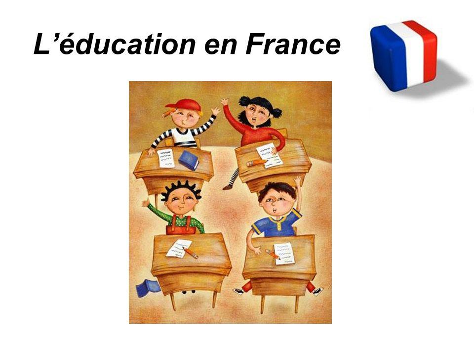 En France, l éducation est… obligatoire 6 -16 ans
