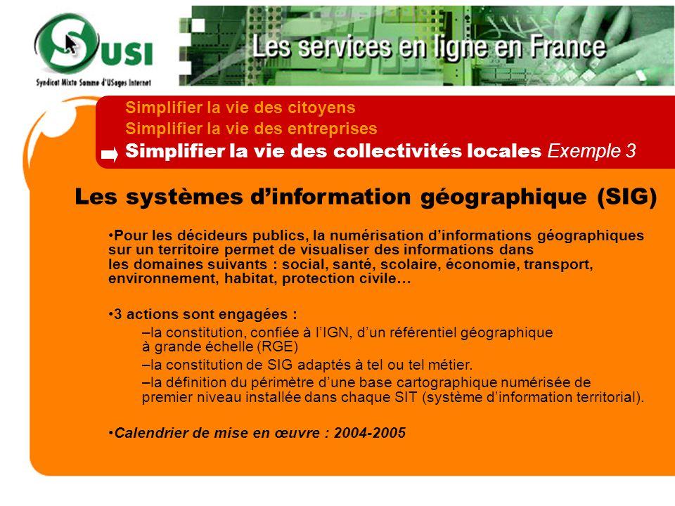 Les systèmes dinformation géographique (SIG) Pour les décideurs publics, la numérisation dinformations géographiques sur un territoire permet de visua