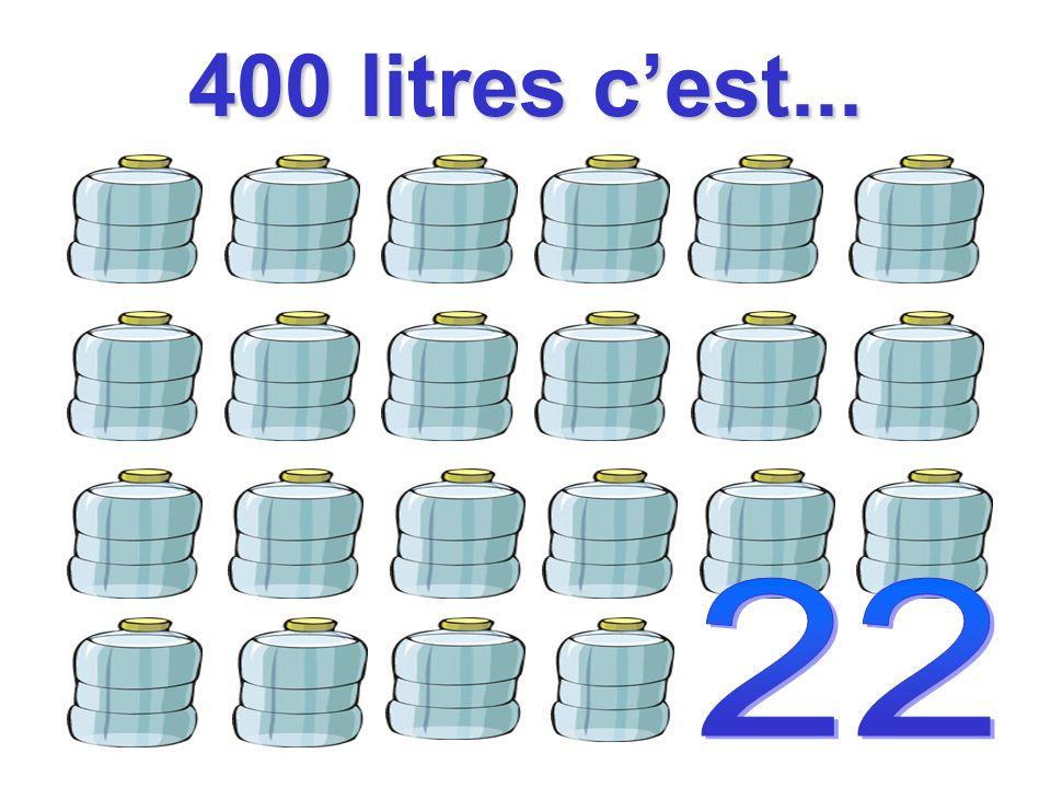 400 litres cest...
