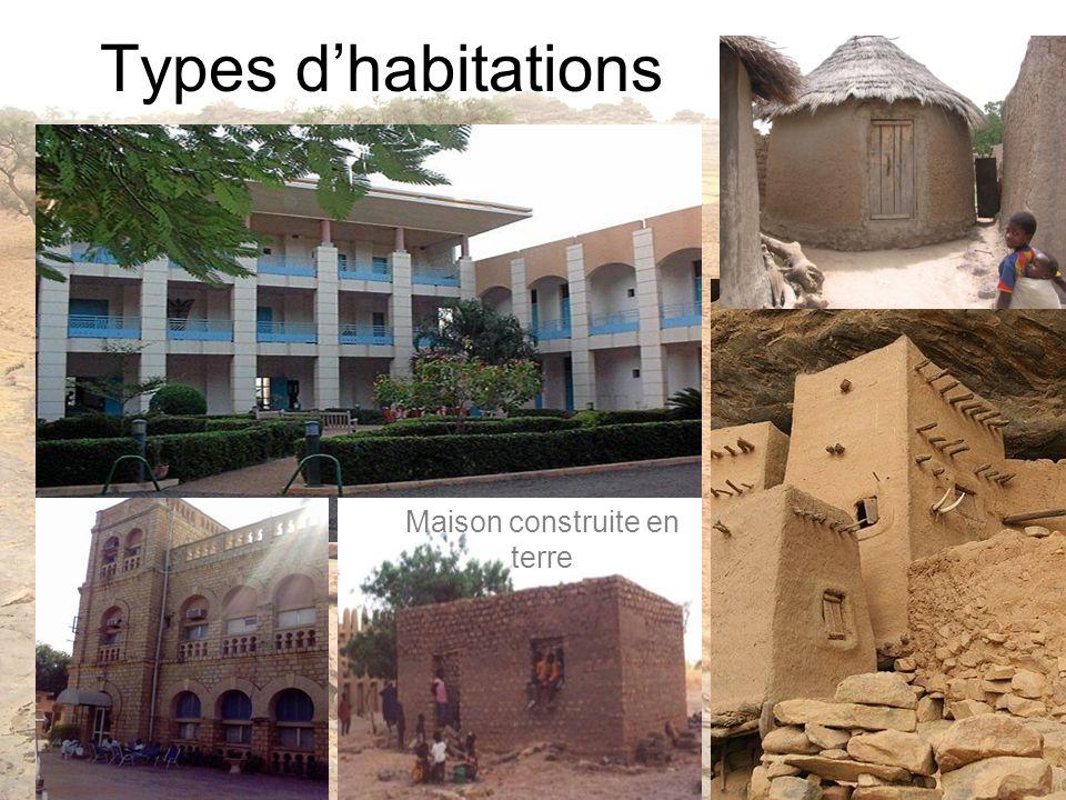Types dhabitations Maison construite en terre