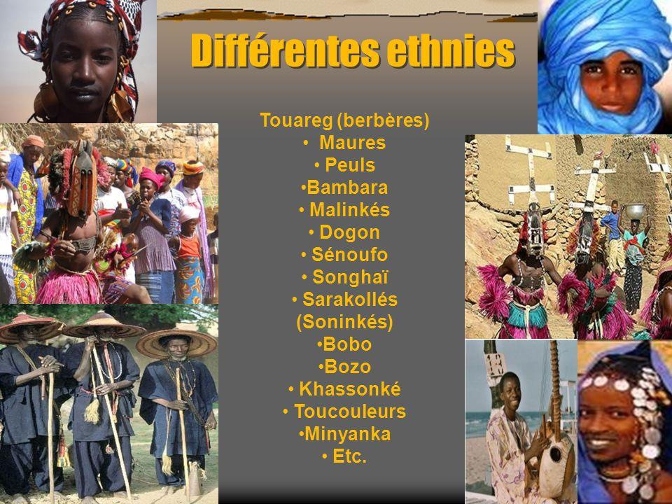 Différentes religions Religions : Musulmans (environ 90 %), chrétiens, animistes.