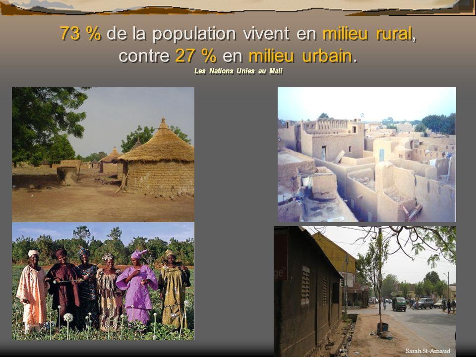 Rythme de vie plus similaire au nôtre ; Grand écart entre les riches et les pauvres ; Maliens venant de tous les coins du pays ; On y parle un peu plus français.
