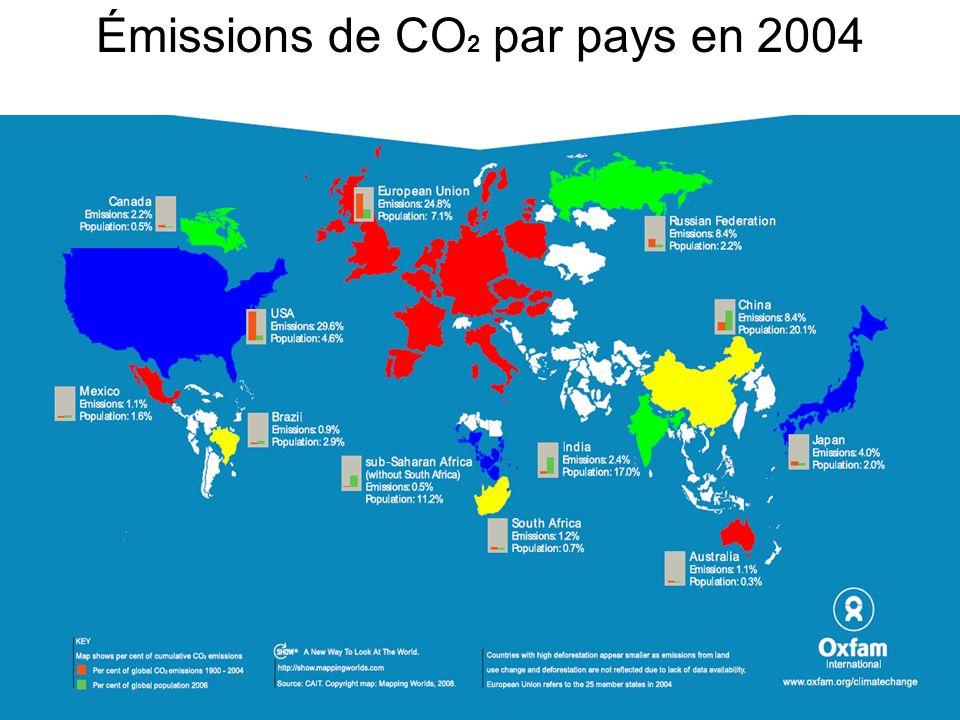 Émissions de CO 2 par pays en 2004