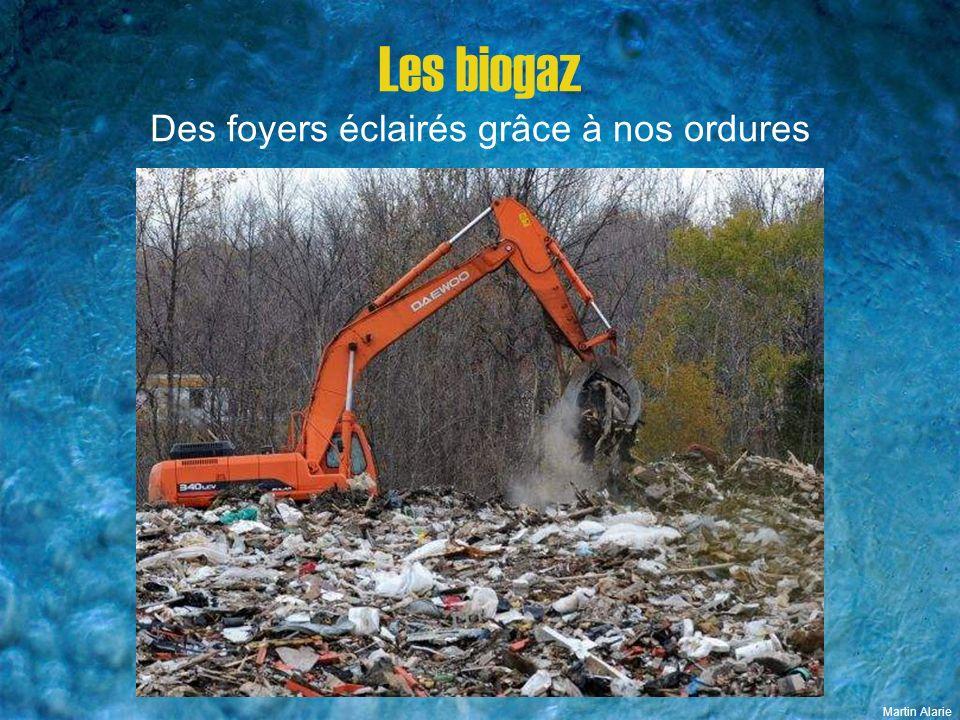 Les biogaz Des foyers éclairés grâce à nos ordures Martin Alarie