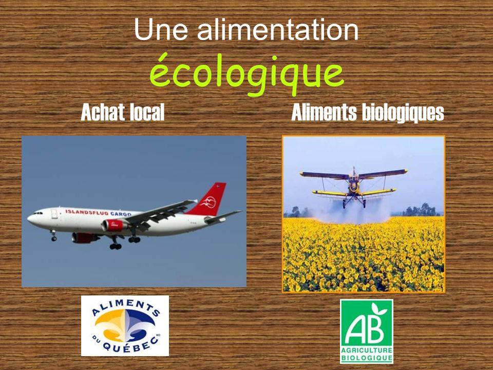 Une alimentation écologique Achat local Aliments biologiques
