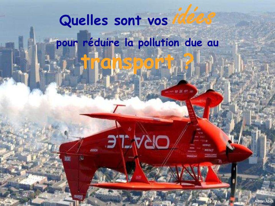 Quelles sont vos idées pour réduire la pollution due au transport ? Adrian Abidi