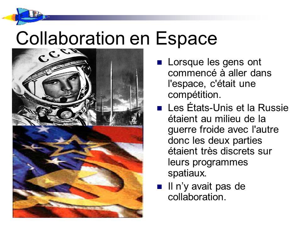 Lorsque les gens ont commencé à aller dans l espace, c était une compétition.