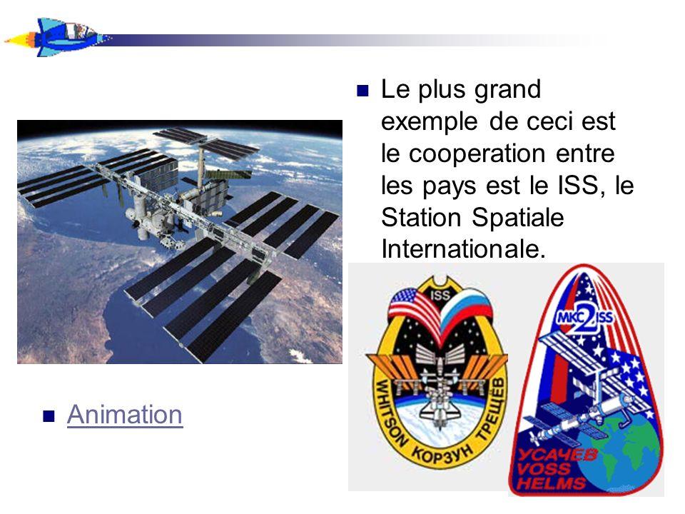 Plusieurs pays ont joué un rôle dans le construction du ISS et plusieurs dautres ont participé dans des missions a bord du ISS.