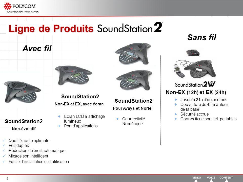 7 SoundStation VTX 1000 Qualité audio exceptionnelle.