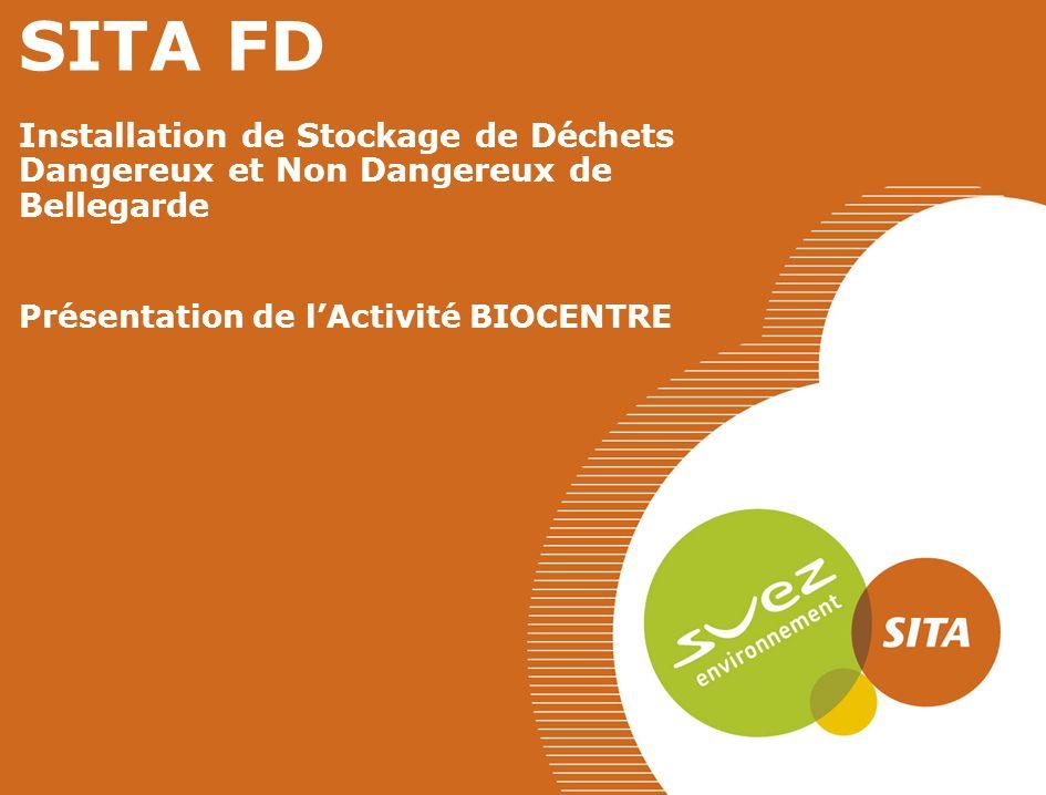 SITA FD Installation de Stockage de Déchets Dangereux et Non Dangereux de Bellegarde Présentation de lActivité BIOCENTRE