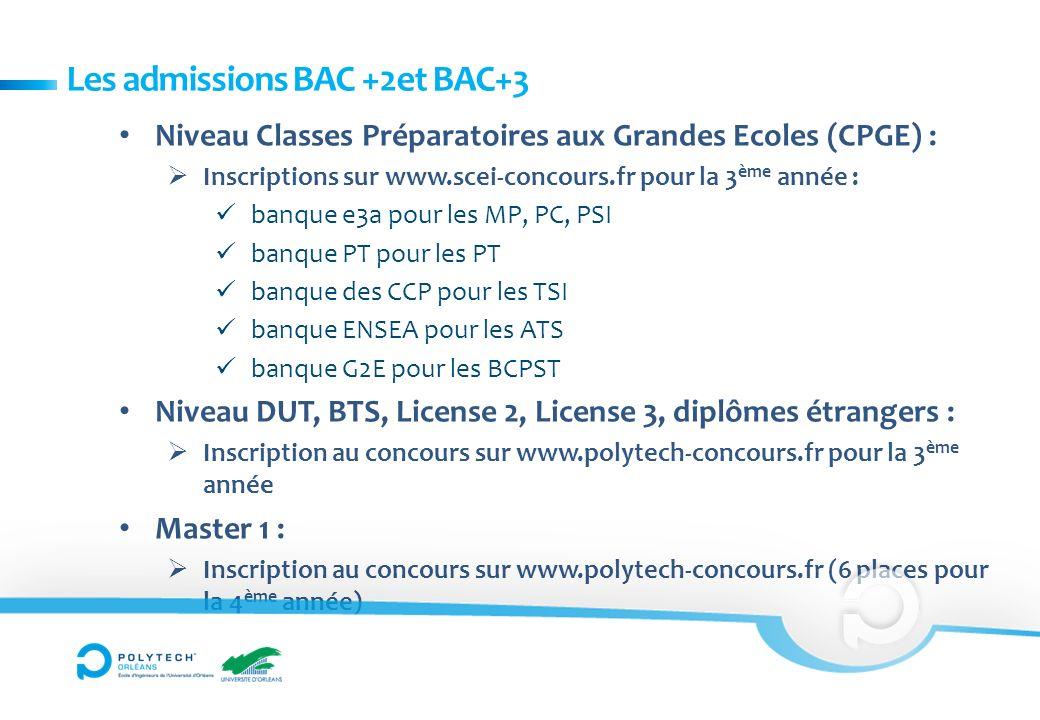 Niveau Classes Préparatoires aux Grandes Ecoles (CPGE) : Inscriptions sur www.scei-concours.fr pour la 3 ème année : banque e3a pour les MP, PC, PSI b