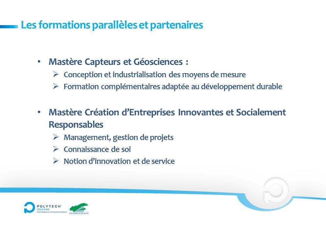 Mastère Capteurs et Géosciences : Conception et industrialisation des moyens de mesure Formation complémentaires adaptée au développement durable Mast